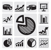 Business chart icons — Stockvector
