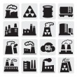 Factory icons set — Stock Vector #13533177