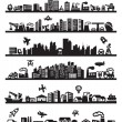 Big city icons — Stock Vector #13533183