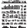 Big city icons — Stock Vector #13533187