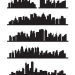 Big city icons — Stock Vector