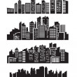 Stock Vector: Big city icons