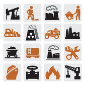 Power generation icons — Stok Vektör