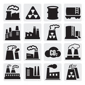Factory icons set — Stock Vector