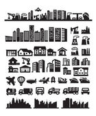 Big city icons — Stockvector