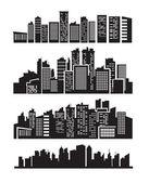 Icone di grande città — Vettoriale Stock
