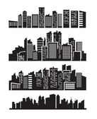 Big city icons — Stock Vector