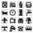 Furniture and home icons — Stock Vector #13553997