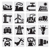 Industrie pictogrammen — Stockvector