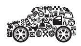 Auto ikoner — Stockvektor