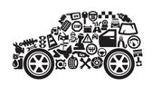 Icone auto — Vettoriale Stock