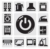 Home appliances icon — Stock Vector