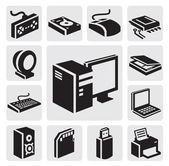 иконка компьютер — Cтоковый вектор