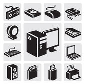 Computer icon — Vector de stock