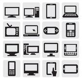 электронные устройства — Cтоковый вектор