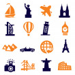 Travel and landmarks — Stock Vector