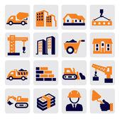 Iconos de construcción — Vector de stock