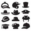 Hat icons — Stock Vector