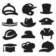 Hat icons — Stockvectorbeeld