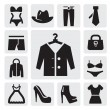 Stock Vector: Clothing icon