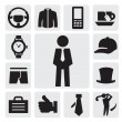Man's accessories - Stock Vector