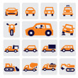 Stock Vector: Cars icons