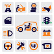 Auto icons — Vector de stock #13649436