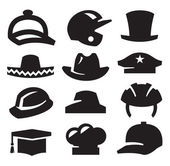 Iconos sombrero — Vector de stock