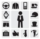 Man's accessories — Stock Vector