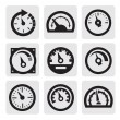 Meter icons — Stockvectorbeeld