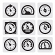 Stock Vector: Meter icons