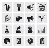 Iconos de musica — Vector de stock