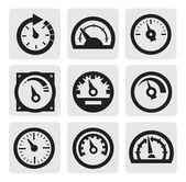 Měřič ikony — Stock vektor