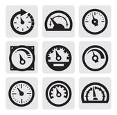 Meter icons — Stock Vector