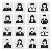 Iconos de avatar — Vector de stock