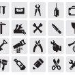 Tools icons — Vector de stock