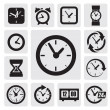 Clocks icons — Stockvektor  #13823479