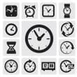 Clocks icons - Stock Vector