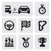 Race icons — Vettoriale Stock