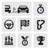 Race pictogrammen — Stockvector