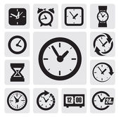 Clocks icons — Vecteur