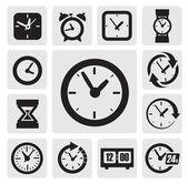 Zegary ikony — Wektor stockowy