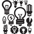Royalty-Free Stock Vector: Bulbs icons