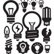 Bulbs icons - Stockvectorbeeld