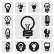 Stock Vector: Bulbs icons