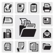 Stock Vector: Document icon