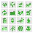 Eco energy icons — Stock vektor