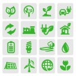 Eco energy icons — Stock Vector #13867330