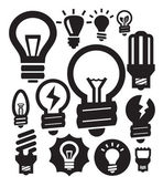 žárovky ikony — Stock vektor