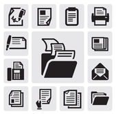 Icona del documento — Vettoriale Stock